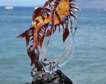 Leafy Sea Dragon glass sculpture