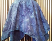Blue Marbled Cotton Full Skirt Size Small- Medium