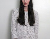 1990s Textured Knit Sweater Size S