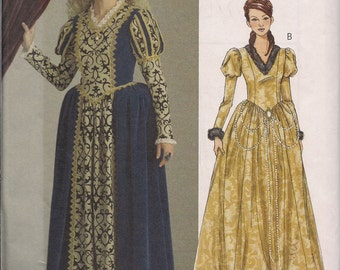 Butterick B5114 Medieval Princess, Queen, Royalty Costume - Sizes 14, 16, 18, 20 - King Authur's Court, Renaissance Costume, Game of Thrones