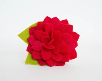 Dog Collar Flower - Red Dahlia