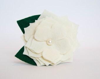 Dog Collar Flower - Ivory Gardenia