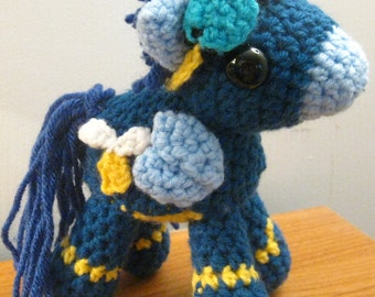 The Wonderbolts: Soarin' in Costume with Cutie Marks - My Little Pony Friendship is Magic Amigurumi Crocheted MLP Plush Doll