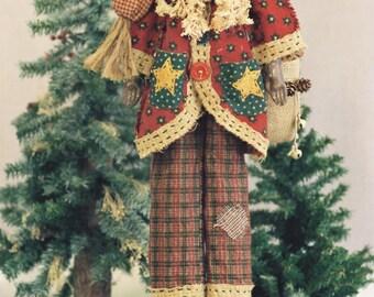 Cloth Doll E-Pattern  24in Black Folk Art Santa E-pattern