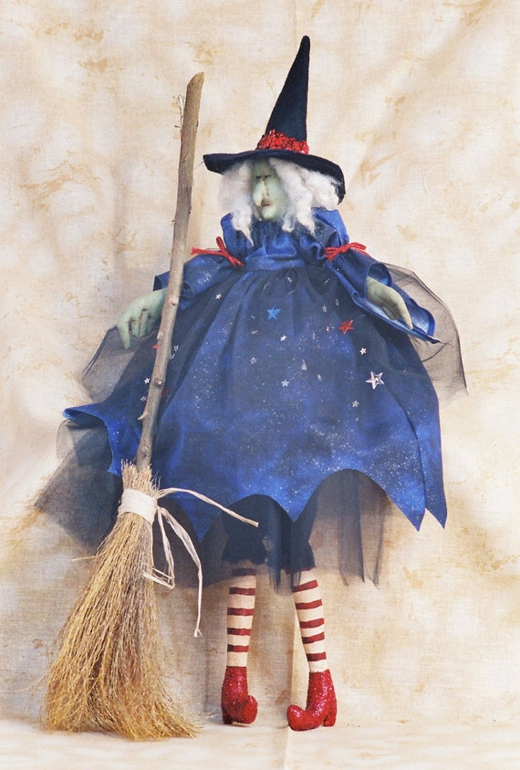 Cloth Doll E-Pattern - 26in Halloween Witch epattern