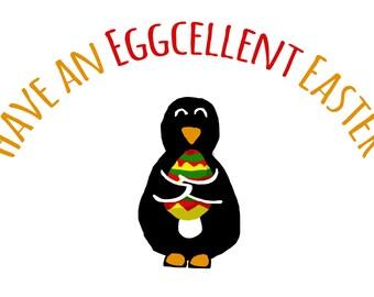 Eggcelent Easter Card - Set of Four