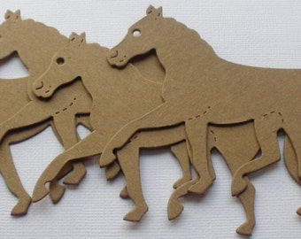 HORSE - CHiPBOARD Die Cuts - Horses Bare Craft Shapes