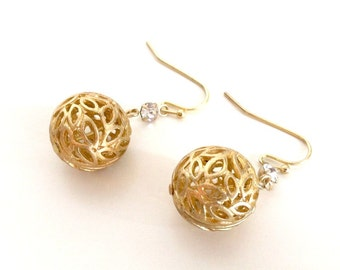 Sphere of Leaves Earrings