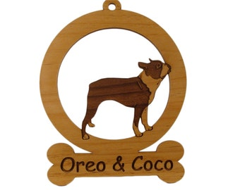 Boston Terrier Standing Ornament 081923 Personalized With Your Dog's Name