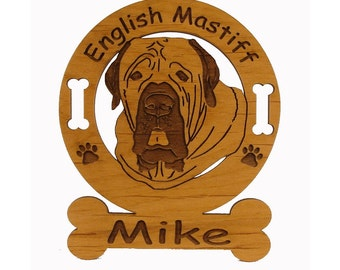 3155 English Mastiff Head Personalized Dog Ornament