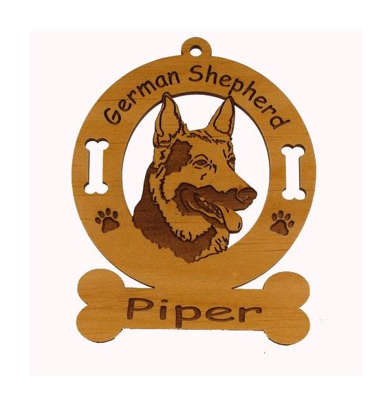3215 German Shepherd Head Personalized Dog Ornament