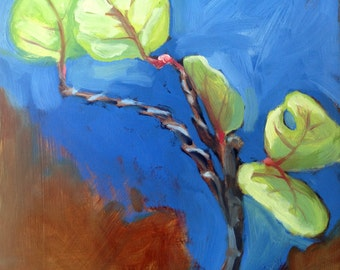 Original Oil Painting Wired Bonsai Plant