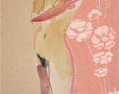 Nude #747 original watercolor painting by Gretchen Kelly