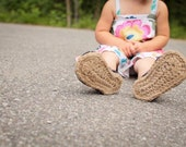 Crochet Pattern - Jute Soles in 14 sizes (Toddler up to Men)