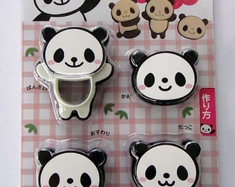 Cute Panda Japanese Cookie Cutters / Molds / Moulds / Shapers / Stencils Set