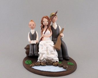 Cake Topper - Customized Outdoor Hunting/ Fishing Wedding Theme