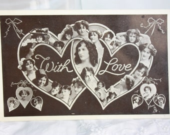 "Vintage Valentine's Day Postcard Tuck's ""Glosso"" Signed Photograph 1908"