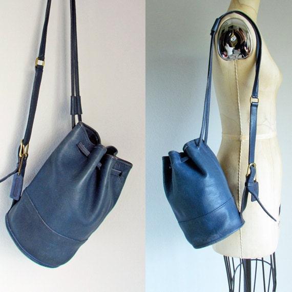 Coach backpack sling bag navy blue vintage purse by ...