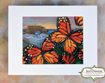 Monarch Butterflies at Natural Bridges in Santa Cruz California Archival Art Print