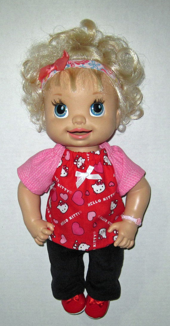 Snackin Sara Real Baby Alive Doll Clothes Red Hello Kitty