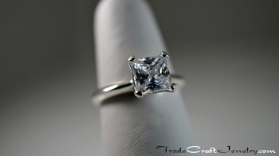 Princess Cut Cubic Zirconia Engagement Ring 1 1 5 2 or 2 4