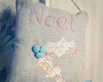 Noel - Kit To Make Vintage Fabric Hanging Christmas Decoration