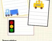 Instant Download Printable Boys Transportation Vehicle Journal Tags Scrapbooking Embellishments