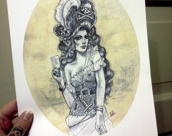 The Pirate Bride - 8 x 10 print signed by the artist