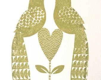 Love love me do green gocco.