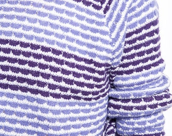 The Vintage Shades of Purple Striped Sweater