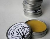 Calming Calendula Salve - for Gardeners and Farmers Hands, Elbows, and Other Dry Skin / With Lavender and Tea Tree Oil / Organic / 2 oz