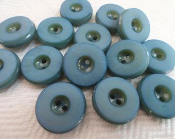 Indigo Vintage Buttons