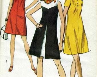 Vintage Simplicity 8638 UNCUT Misses Geometric Summer Dress  Sewing Pattern  Size 12 Bust 34