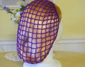 1940s Style Snood Hair Net - Purple