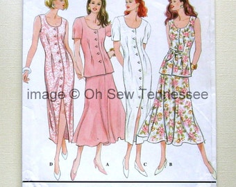 Feminine One and Two Piece Dresses - Simplicity 9030 - Size 10-12  Sewing Pattern
