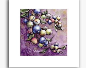 Blueberries print - small square