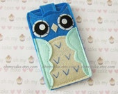 "iPod Nano case, iPod Nano sleeve, iPod Nano owl case, Felt iPod Nano case, iPod Nano 7th generation case,  iPod Nano 6 case, ""blue owl case"""