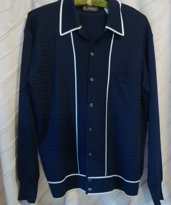 Vintage 60 39 s l virany knit shirt made in italy great for Shirts made in italy