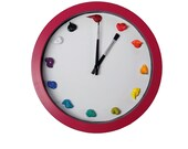 Unique Wall Clock, Canvas, 3D paint daubs brush - CUSTOMIZABLE - Artist Clock, art studio, nursery, playroom decor or artist painter gift