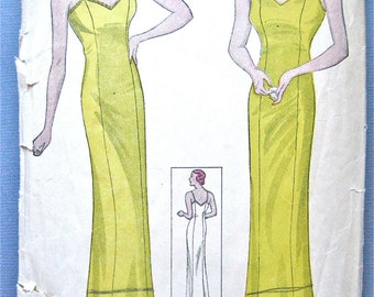 Vintage Simplicity 1336 early 1930s slip sewing pattern Bust 40