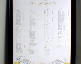Yellow Orchids Seating Chart