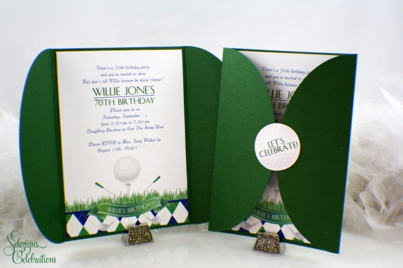 Golf Party Invitations Golf event Sports party Golf ball – Golf Party Invites