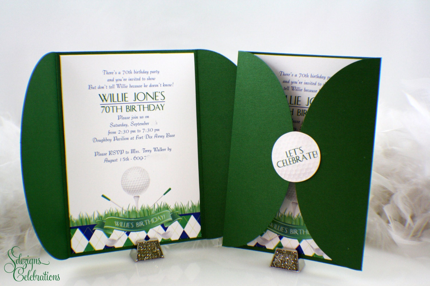 Golf Party Invitations Golf event Sports party Golf ball