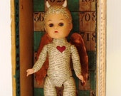 """Assemblage Found Object Doll Shrine """"I Feel A Little Sin Coming On"""""""