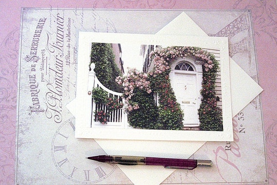 Charleston Prints, Charleston Note Cards, Romantic Charleston Doors, Charleston Notecards, Charleston Floral Prints Cards, Charleston Doors