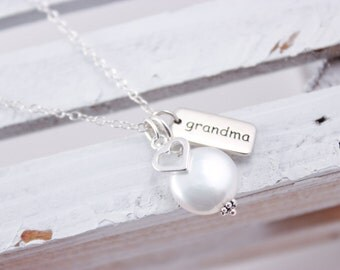 Grandmother Jewelry Sterling Silver Grandma Necklace