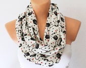 FREE SHIPPING Infinity Scarf Loop Scarf Circle Scarf Telephone is ringing Soft and Lightweight