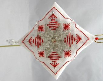 Beaded Embroidery Christmas Ornament 208