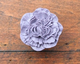 Drawer Knobs Peony Flower in Purple, more COLORS available (RFK02-07)