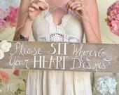 Rustic Wedding Sign No Seating Plan Morgann Hill Designs (Item Number MHD20054)